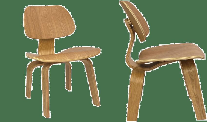 mobiliario diseñado por arquitectos: Lounge Chair Wood de los Eames