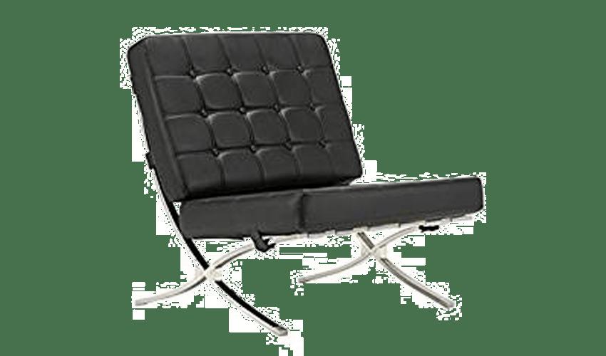mobiliario diseñado por arquitectos: Silla Barcelona MR90 de Mies van der Rohe