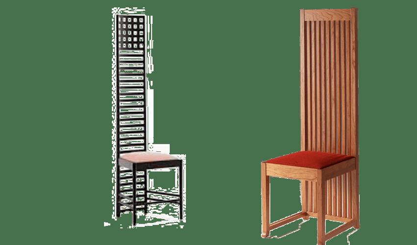mobiliario diseñado por arquitectos: Silla Hill o Mackintosh de Charles Rennie Mackintosh