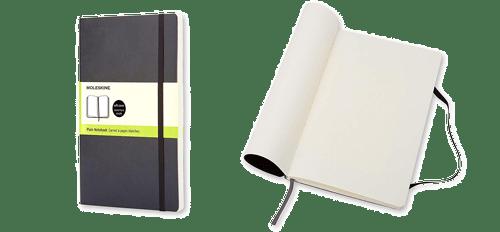 la libreta Moleskine es un regalo perfecto para que a tu amigo arquitecto no se le escape ninguna idea.