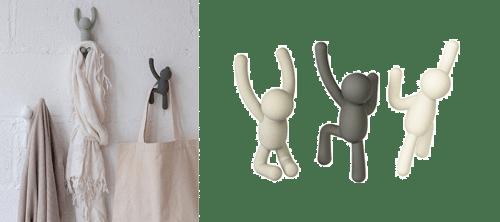 estos colgadores son un regalo muy divertido para los amantes del diseño