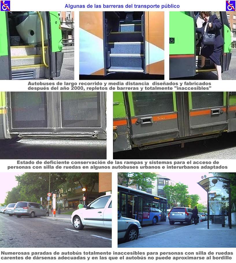 Barreras arquitectnicas y en el transporte para personas