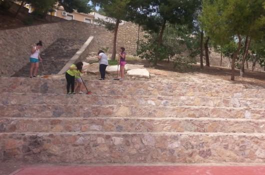 proyecto abraham - calle alta - limpieza pistas