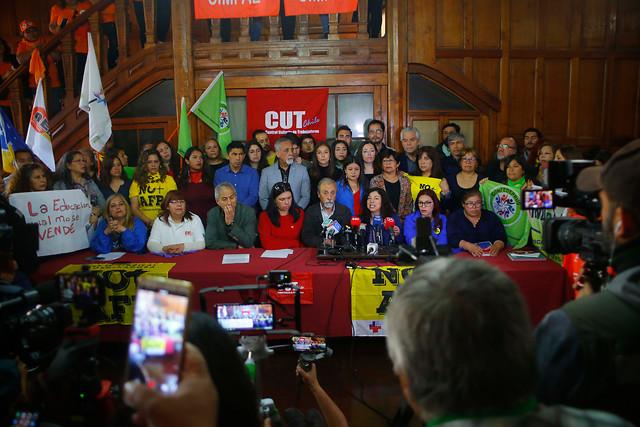 """Llamaremos a una nueva Huelga General y jornada de protestas:Unidad Social rechaza """"Acuerdo de Paz y Nueva Constitución"""""""