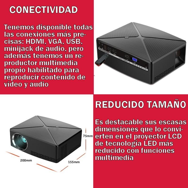 Máxima conectividad que incluye conexión de alta definición HDMI, USB multimedia, VGA, AV y salida de audio en minijack
