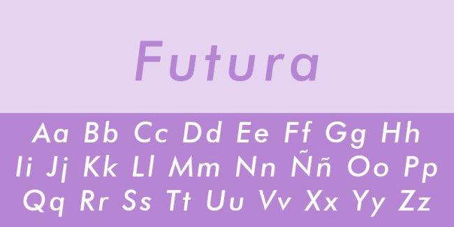 tipo de letra futura