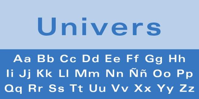 fuente de letra univers