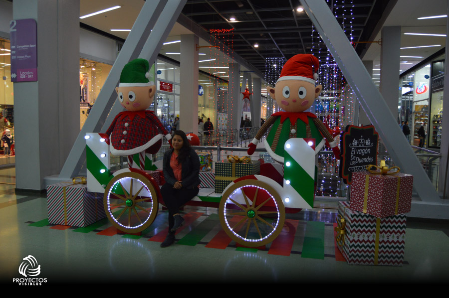 escenario navidad 2016 centro comercial portal 80