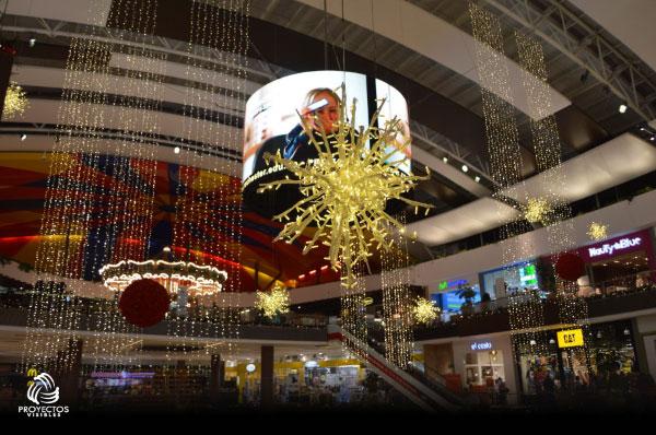 Navidad 2017 Fontanar centro comercial nube inflable