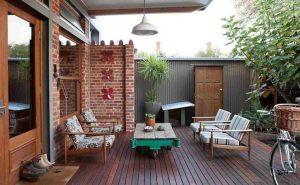 Desain Teras Retro untuk ide model teras rumah sederhana
