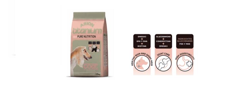 Pinso Arion Titanium Coat per Gossos