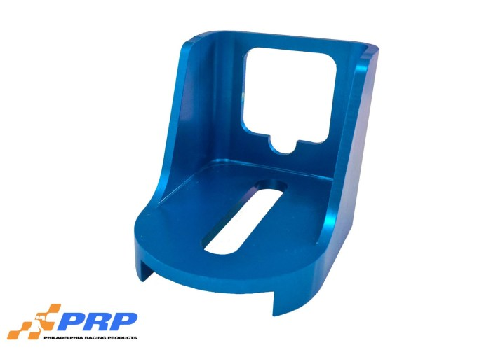 Blue GM Kickdown Detent Cable Bracket made by PRP Racing Products