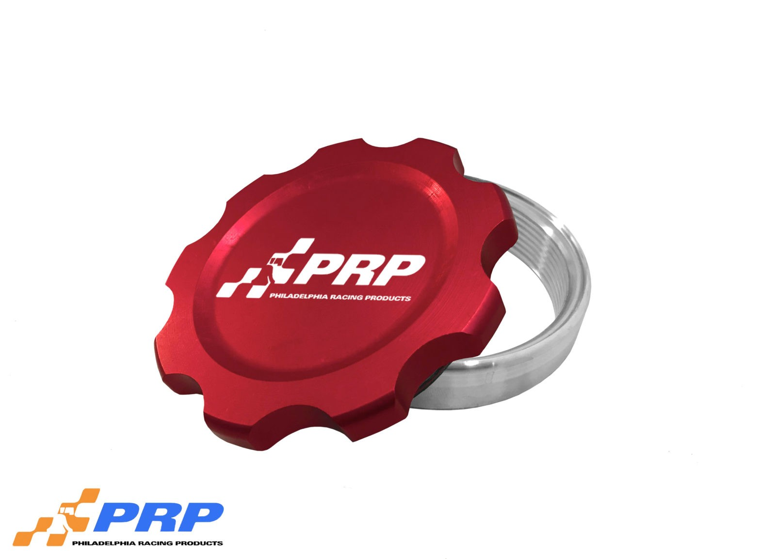 Red Anodized large Filler Cap Kit made by PRP Racing Products