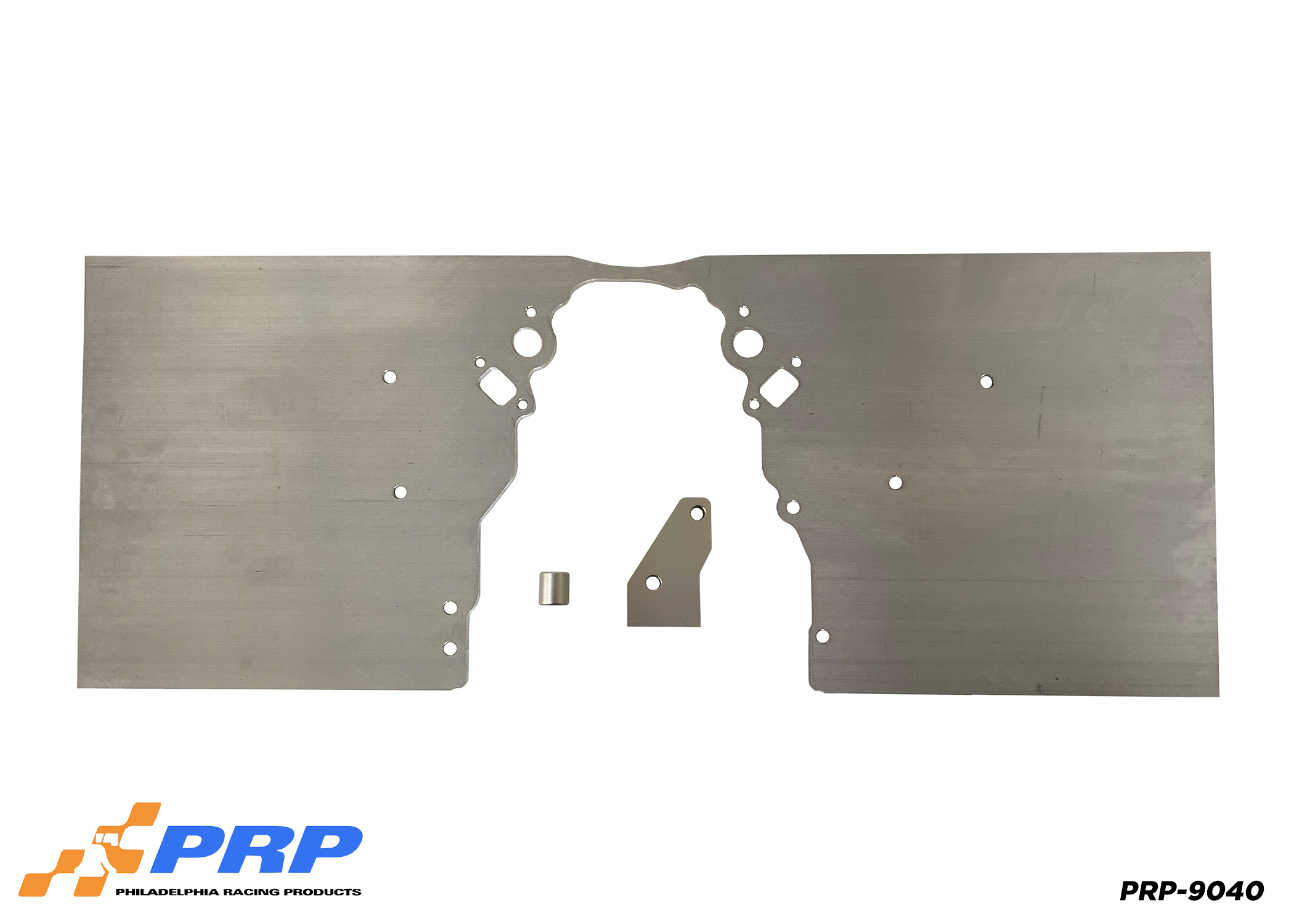 Silver LS Front Motor Plate made by PRP Racing Products Back View