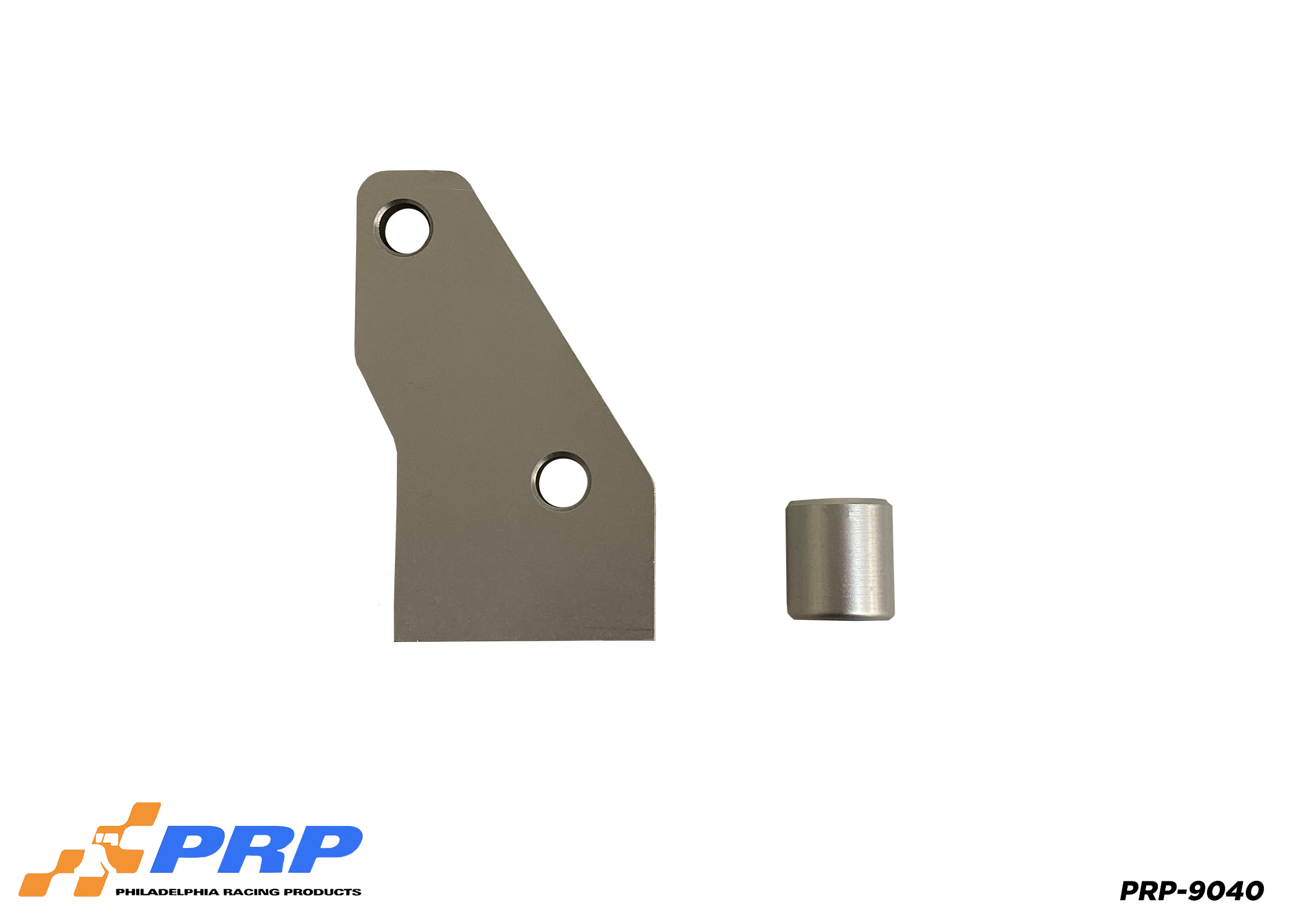 Silver LS Front Motor Plate made by PRP Racing Products Mount and spacer view