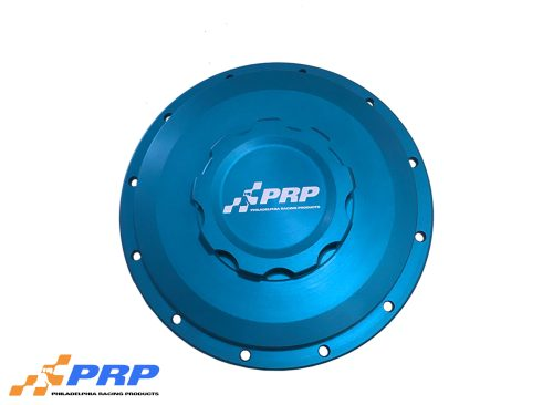 Blue Intercooler Cap with bolt on bung made by PRP Racing Products