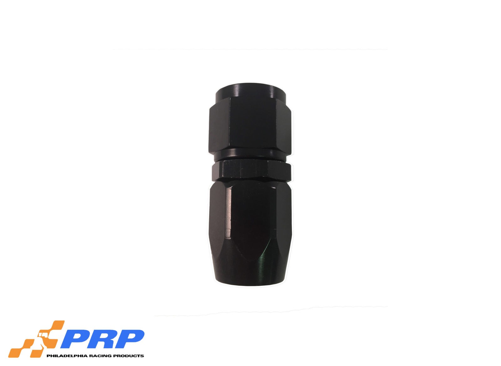 Black Straight Swivel Hose Ends - 8-AN by PRP Racing Products