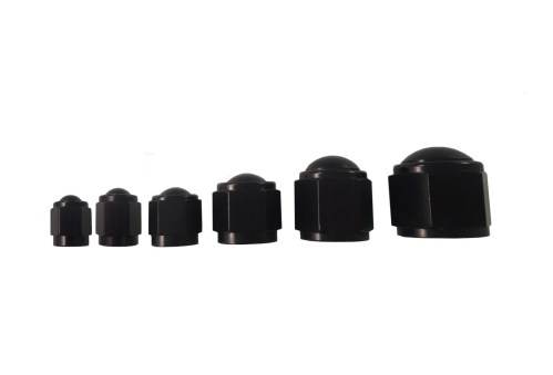 Black Flare Caps made by PRP Racing Products