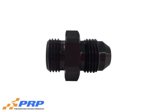 Black Radius Port to 8-AN Hose made by PRP Racing Products