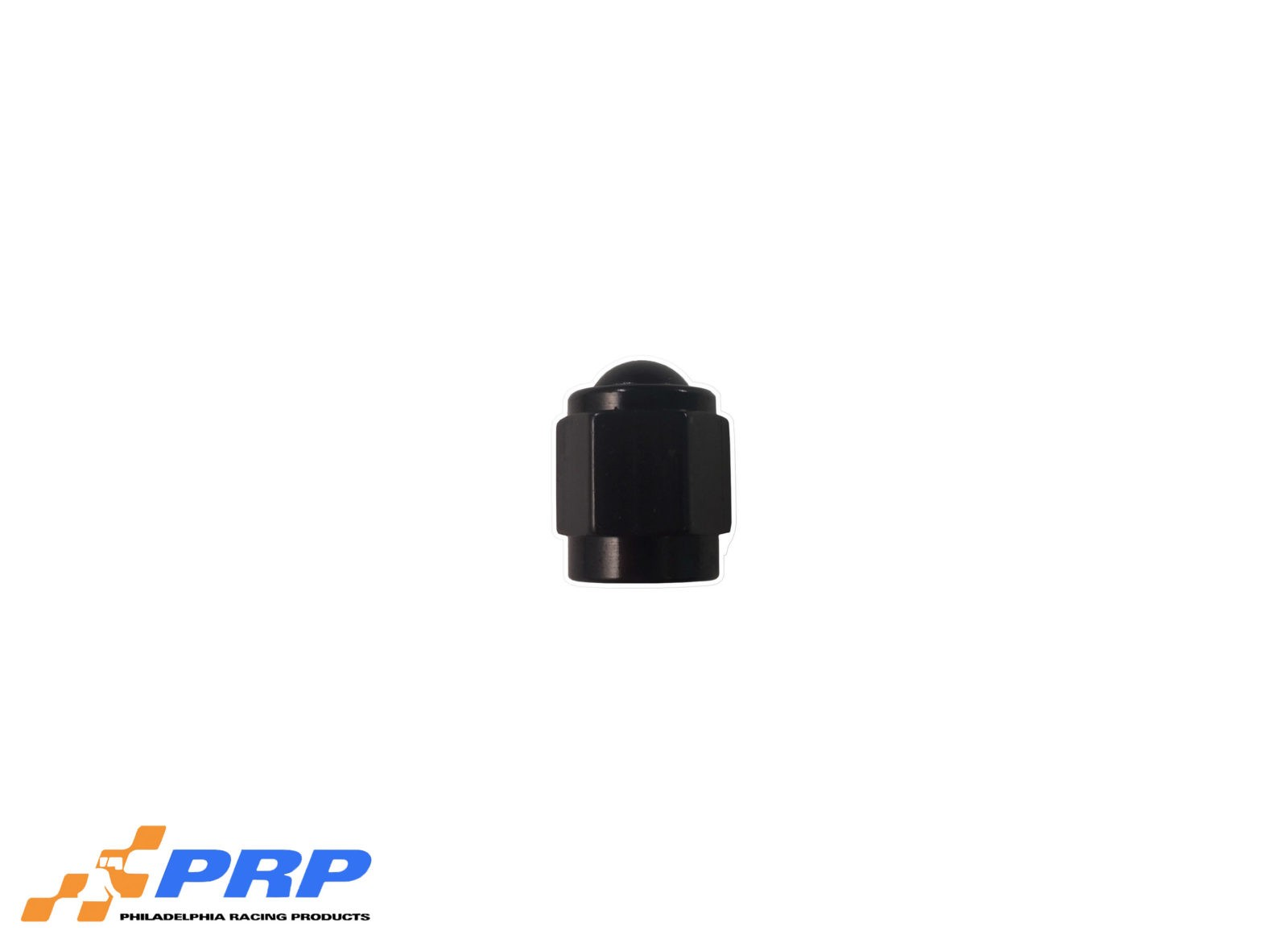 Black Flare Caps - 3-AN made by PRP Racing Products