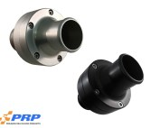 Clear and Black Inline Thermostat Housing made by PRP Racing Products