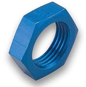 Earl's Blue Anodized Aluminum Bulkhead Nuts