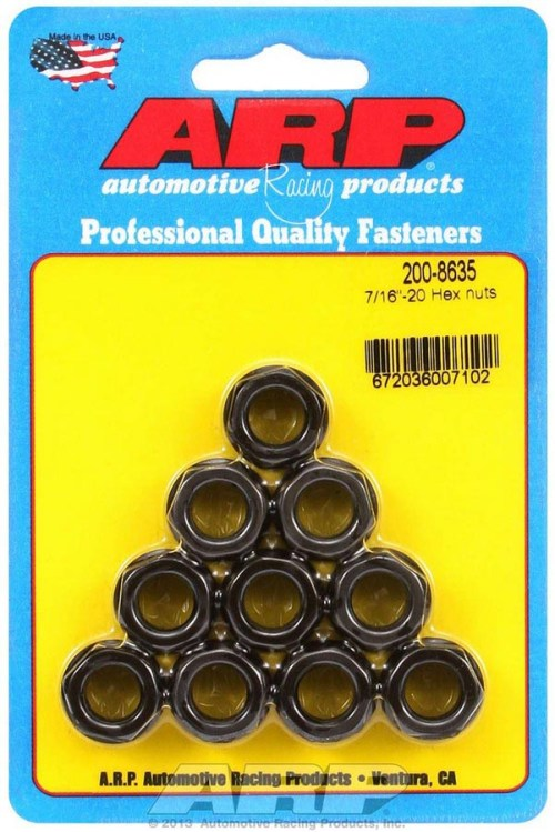ARP's Hex Nuts - Black PRP Racing Products
