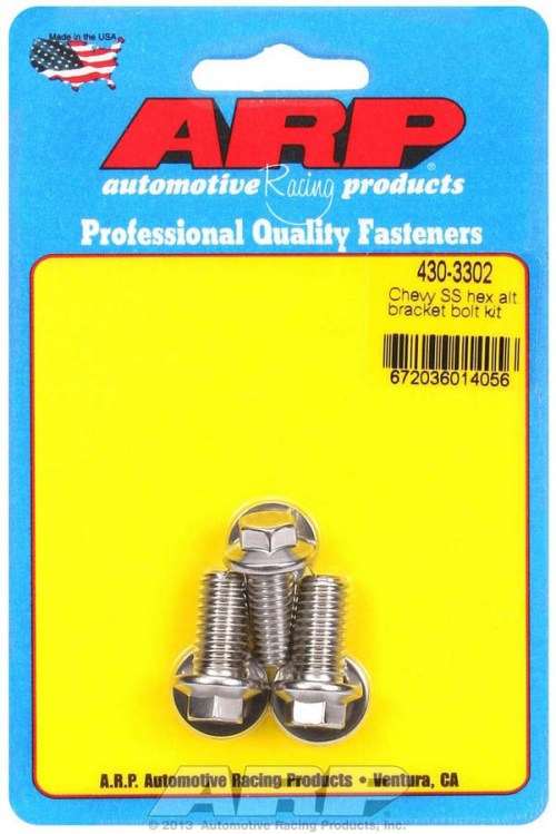 ARP's SS Chevy Alternator Bolts PRP Racing Products