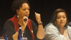 Panel: Master Lease Programs and Other Project-Based Mobility Approaches. From left to right: Demetria McCain (ICP) and Isabel Lopez (NestQuest).