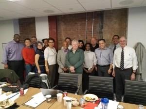2018 PRRAC Board Meeting: PRRAC board members posing after meeting.