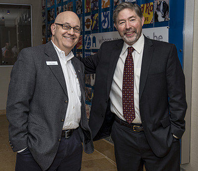 Senior Practitioners Group Members Steve Lubetkin, APR, Fellow, PRSA and managing partner of Lubetkin & Co. LLC; Chris Biddle of Biddle Communications. Photo by Ron Wood.