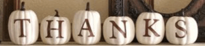 white pumpkins with letters