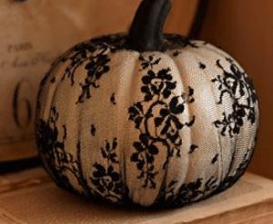 black lace pumpkin