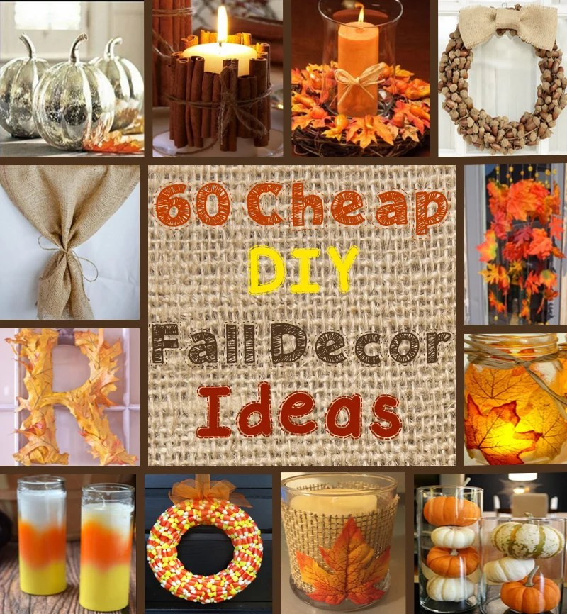 Decoration For Home For Cheap: 60 Cheap DIY Fall Decor Ideas