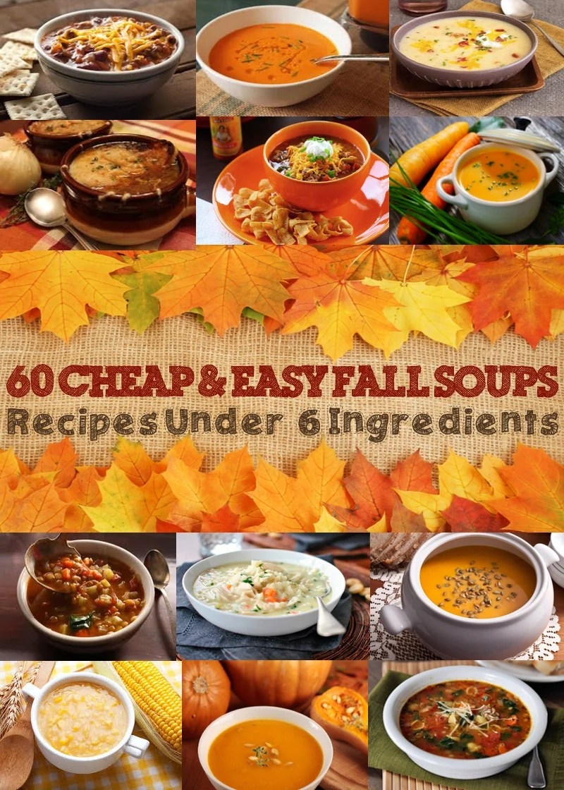 easy recipes for fall soups