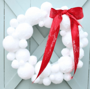 snowball-wreath