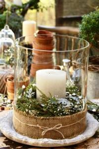 candle-burlap
