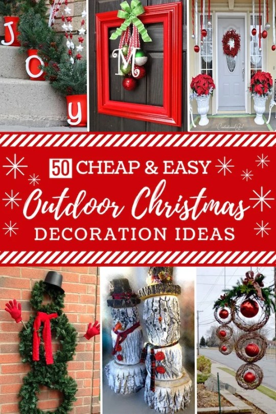 50 Cheap and Easy DIY Outdoor Christmas Decorations