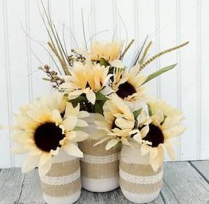 Fall sunflower jars