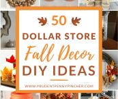 dollar store fall decor