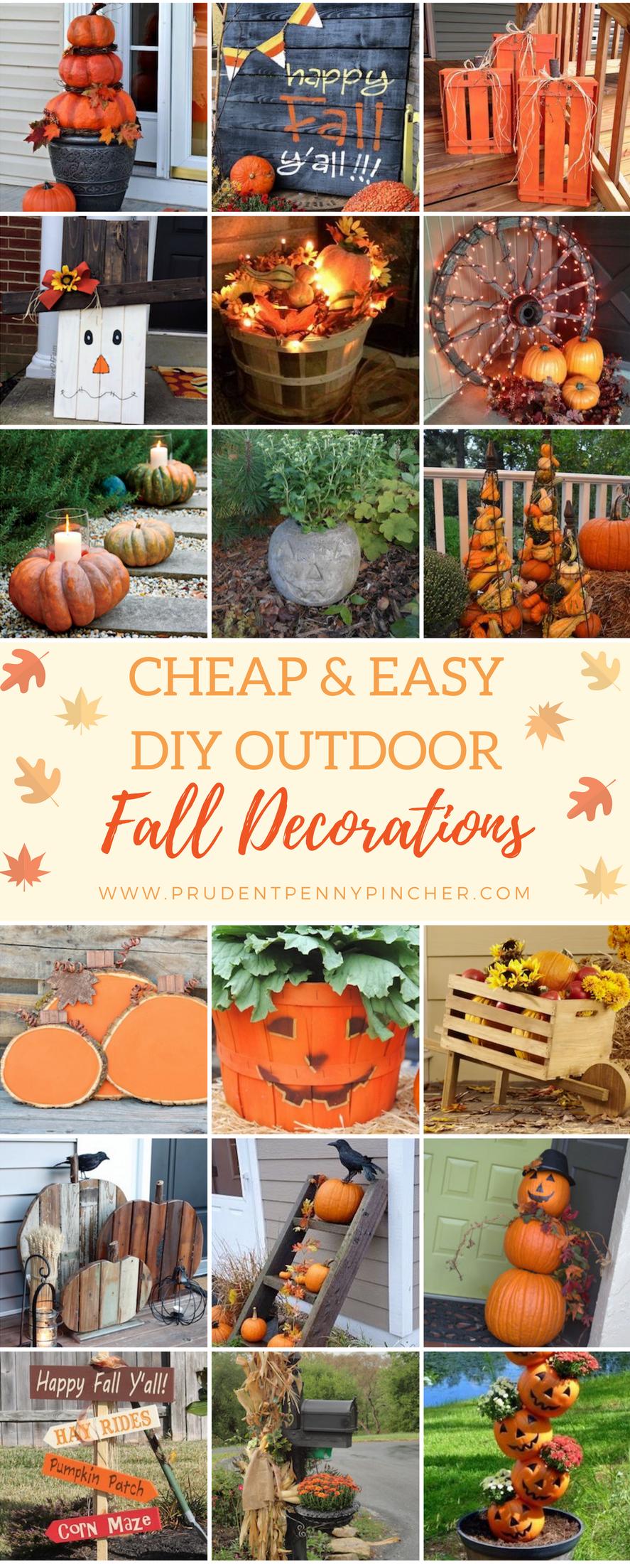 Fall Outdoor Decorations Diy