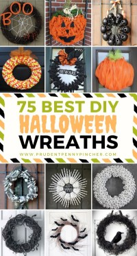 75 Best DIY Halloween Wreaths - Prudent Penny Pincher