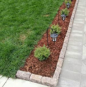 cheap and easy front yard curb