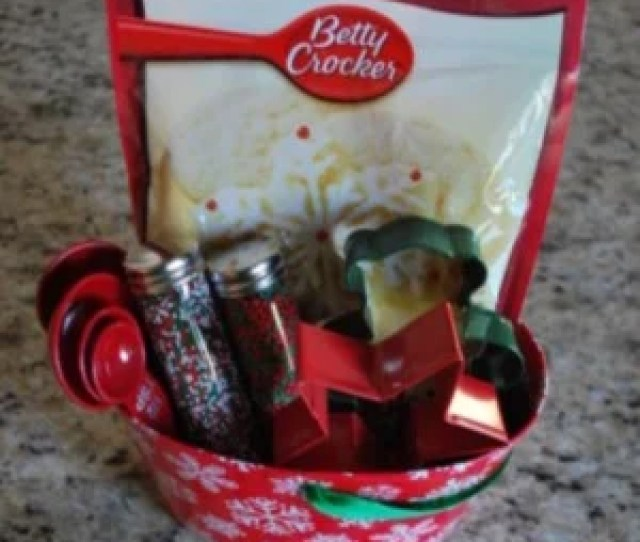 Christmas Cookie Gift Basket Source Unknown Cookie Cutters Cookie Dough Mix Christmas Sprinkles Christmas Tin