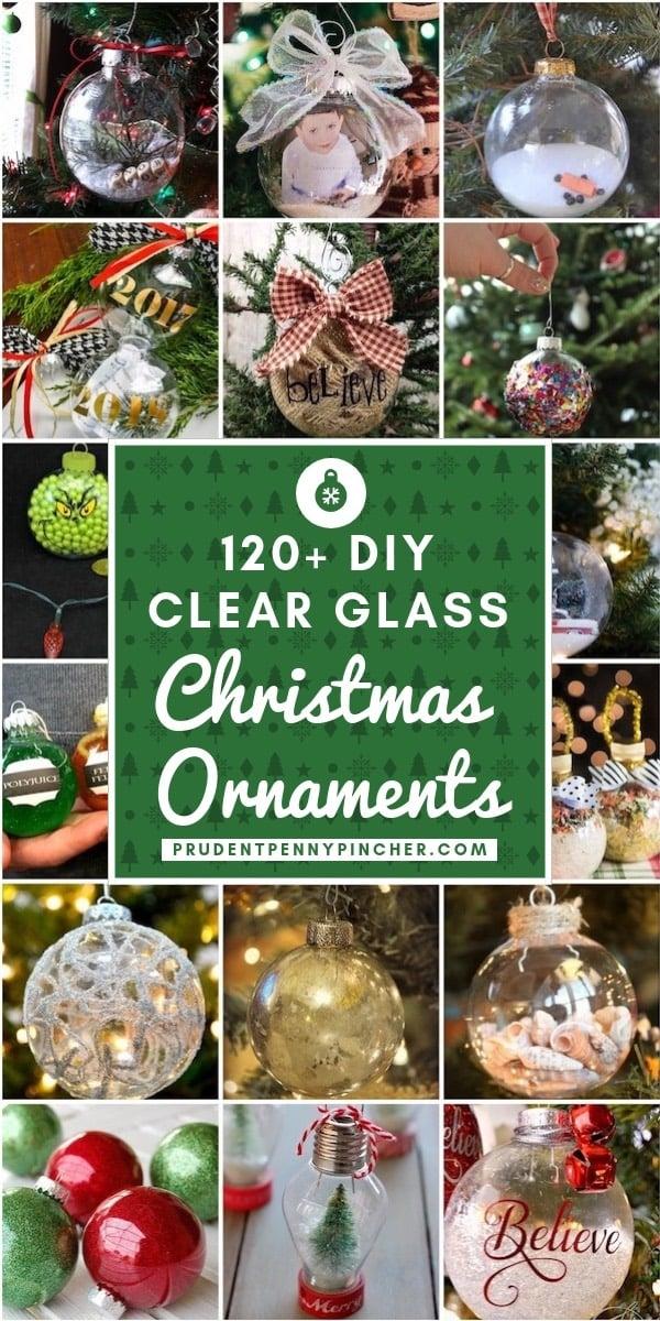 Clear Christmas Ornaments Craft Ideas
