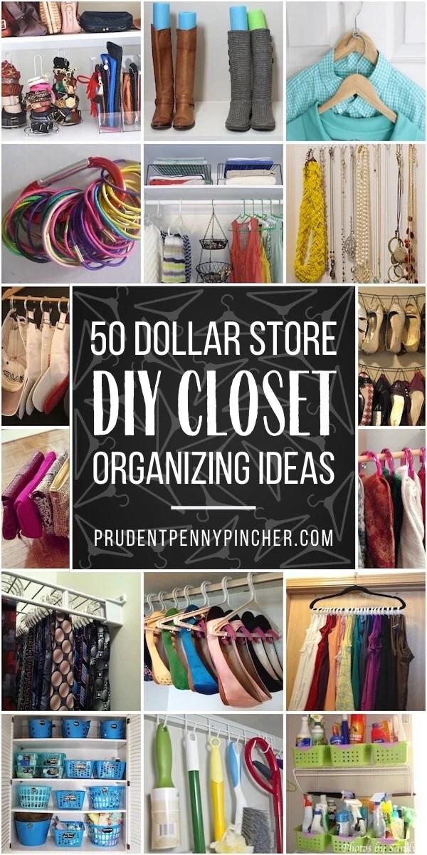 50 dollar store closet organization