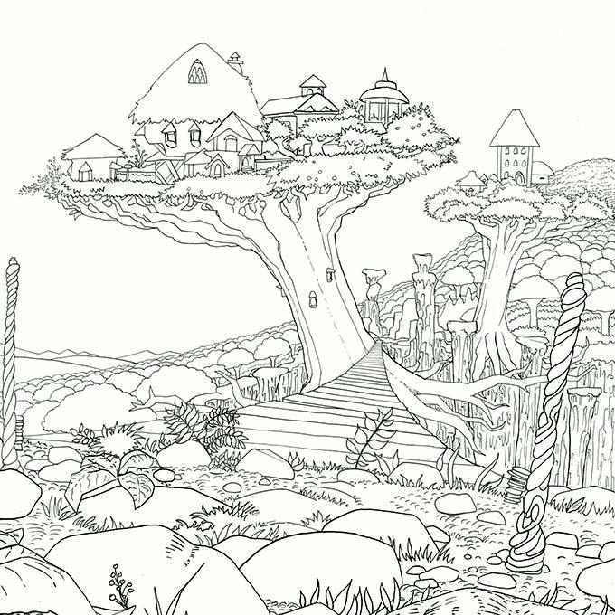 Illustrators release adult coloring book Legendary Worlds