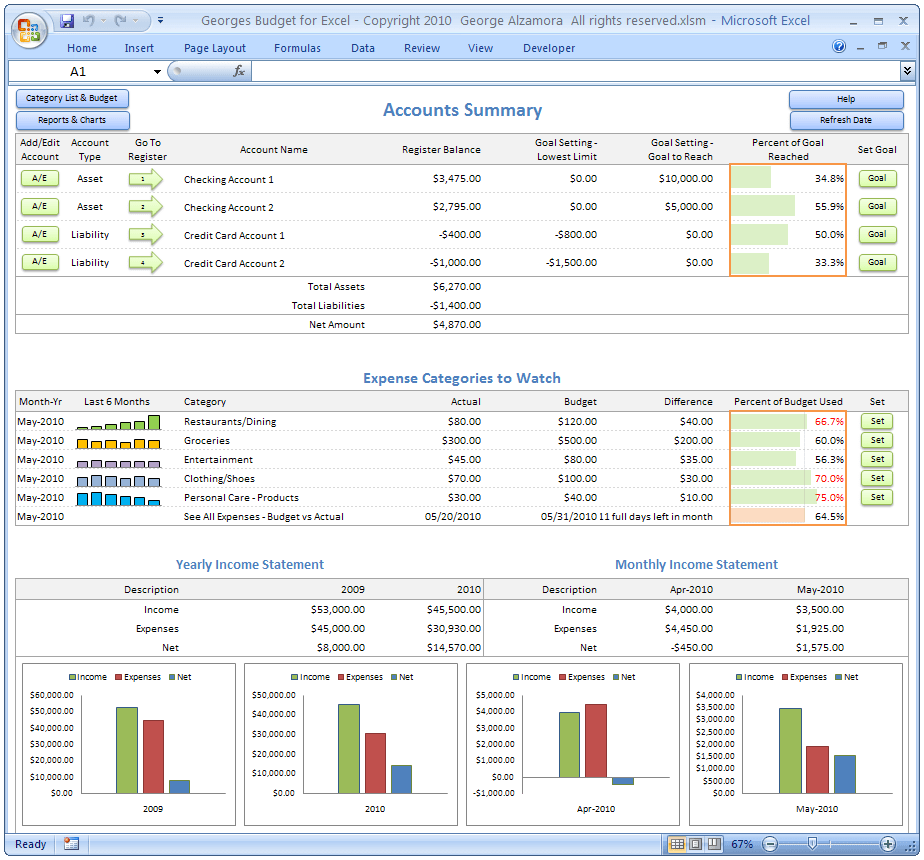 budget planner app sample