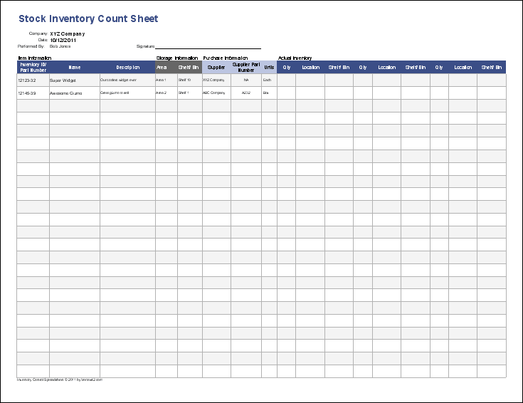 excel inventory template with formulas sample 2
