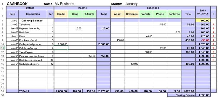 excel sheet for accounting free download 3